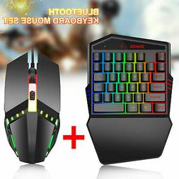 Bluetooth4.2 Backlight One Hand Gaming Keyboard Mouse Set fo