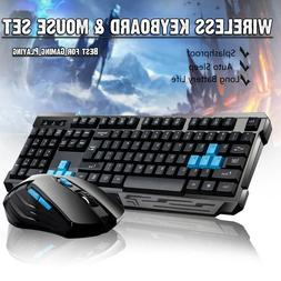 2.4GHz Wireless Gaming Keyboard And Mouse Set Bundle USB 6 K