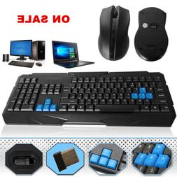 22 Keyboard And Wireless Mouse Set Combo 2.4GHz Cordless Gam