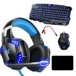 3.5mm Gaming Headset Gaming Keyboard Stereo Headphones & Mou