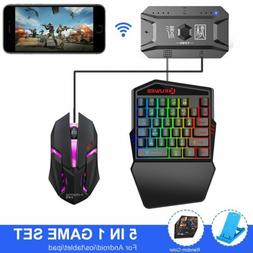 5-in-1 Wireless Bluetooth Gaming One-handed Keyboard Mouse S