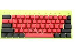 NPKC 104 87 61 Mixed Red Black PBT OEM Profile Keycap For 10
