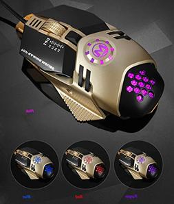 Alimao 4800 DPI 6D Buttons LED Mechanical Wired Gaming Mouse