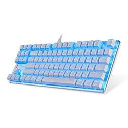 EagleTec KG061-BR Blue LED Backlit Mechanical Gaming Keyboar