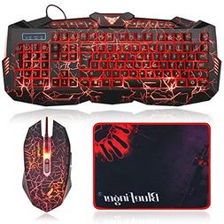 Top Quality Gaming Keyboard and Mouse Combo Set with Large P