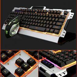 Aluminum Panel Luminous Wired Gaming Mechanical Keyboard and