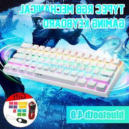 ANNE PRO2 White Gateron Blue Switch 60% RGB bluetooth Mechan