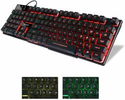 Backlit Keyboard Gaming Computer PC MAC Wired LED Illuminate