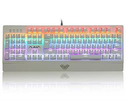 AULA Multicolor Backlit Mechanical Gaming Keyboard with Blue