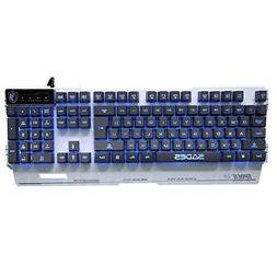 HAHAP LED Backlit Wired Mechanical Gaming Keyboard,Gaming Me