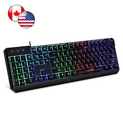 ⭐️KLIM Chroma Backlit Gaming Keyboard - Wired USB - Led