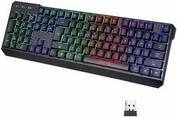 KLIM Chroma Rechargeable Wireless RGB Gaming Keyboard for PC