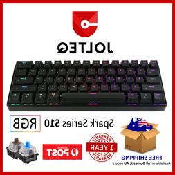 Compact Mechanical Gaming Keyboard 60% TKL with RGB Switches