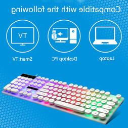 Computer Desktop Gaming Keyboard and Mouse USB Mechanical Fe