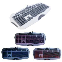 cool usb wired gaming keyboard game led