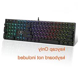 E-Element Keyboard Keycap 104 Double Shot Injection Backlit
