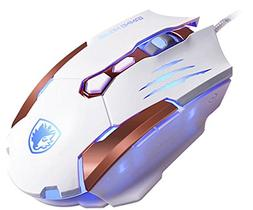 SADES Q6 USB 7 Buttons Gaming Mice for Pc/Mac,3500 DPI,4 Op