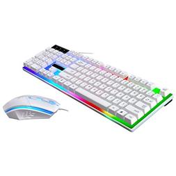 G21 LED Rainbow Color Backlight Gaming Game USB Wired Keyboa