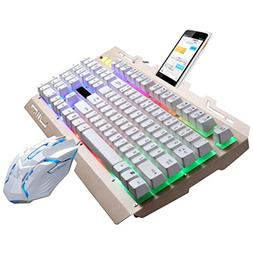 G700 LED Rainbow Lighting Color Backlight Gaming Game USB Wi