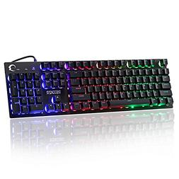 Gaming Keyboard - Ergonomic Design Wired Mechanical Feeling