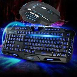 Gaming Keyboard and Mouse Combo,Crack PatternUSB Wired Keybo