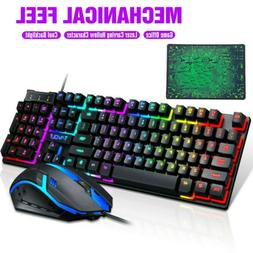 Gaming Keyboard and Mouse Combo Ergonomic For Computer Deskt