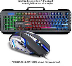 SADES Gaming Keyboard And Mouse Combo, Spill-Resistant Stand