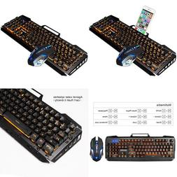 SADES Gaming Keyboard and Mouse Combo,Wired Keyboard with,Or