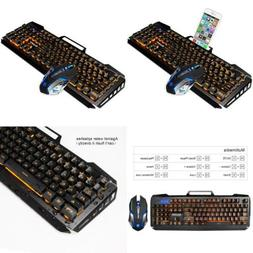 SADES Gaming Keyboard and Mouse Combo,Wired RENJIA 2 ORANGE