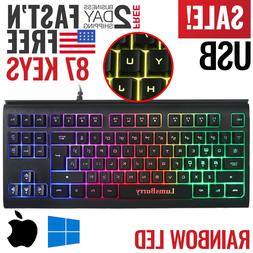 Gaming Keyboard Backlit PC Mechanical Feeling Backlight Wire