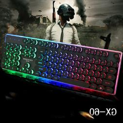 Gaming Keyboard G60 Punk Metal Mechanical Touch Light Comput