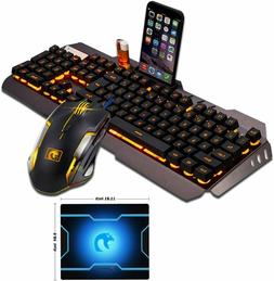 FELICON Gaming Keyboard Mouse Combo Sets S101 104 Keys Wired