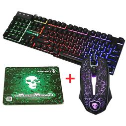 gaming keyboard mouse wireless led + Mouse Pad Color Illumin