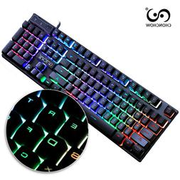Gaming Keyboard Rainbow Backlit Colorful Led  Wired Keypad L