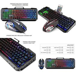 gaming mouse and keyboard combo wired backlit