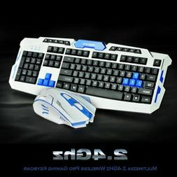 Gaming wireless 2.4G keyboard and Mouse Set to computer Mult