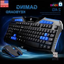 Gaming Wireless 2.4G Keyboard and Mouse Set Kit for Computer