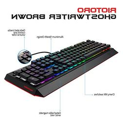 RIOTORO Ghostwriter Cherry MX Brown Mechanical Keyboard with