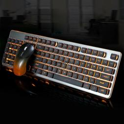 GLK350 Charging Light Game Keyboard and Mouse Kit Mute Wirel