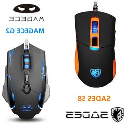 SADES K10 Gaming Keyboard USB Wired and S8 Gaming Mouse Back