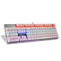 SADES K10 Multi-Color LED Backlit Wired USB Mechanical Gamin