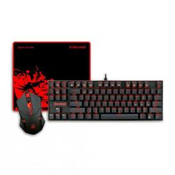 Redragon K552-BA Gaming Keyboard and Mouse, Mouse Pad Combo