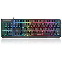 MotoSpeed K70 USB Wired Gaming Keyboard 7 Color Backlit Supp