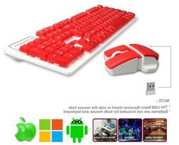Keyboard and Mouse Combo Wireless , 2.4GHz Suspended Gaming,