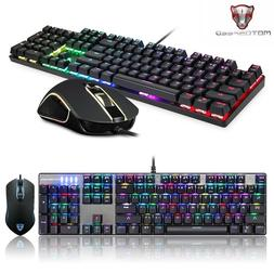 Motospeed Keyboard And Mouse Gaming Combo RGB Backlit Blue S