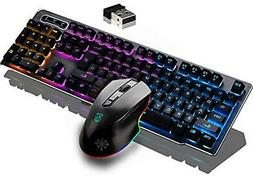 Keyboard Gaming Keyboards And Mouse Combo,Wireless 2.4G Tech