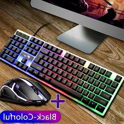 keyboard mechanical and mouse combo gaming led