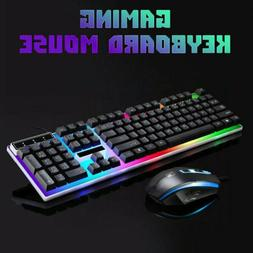 Keyboard Mouse Combo For PS4/PS3 Xbox One Gaming Rainbow LED