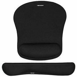 TeckNet Keyboard Wrist Rest And Mouse Pad With Support, Memo