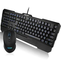 TeckNet Kraken 3 LED Adjustable Backlit Gaming Keyboard and